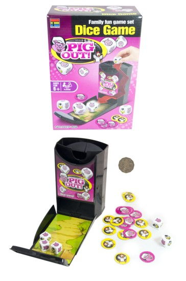 PIG OUT DICE GAME