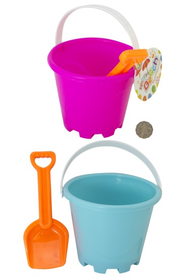 BEACH BUCKET & SPADE - Click Image to Close