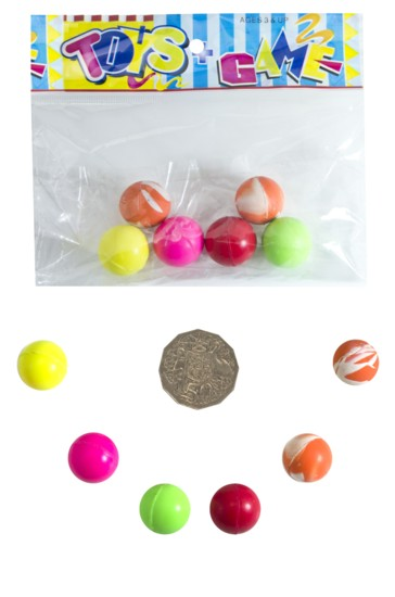 20mm Hi-Bounce Ball 6 piece bag